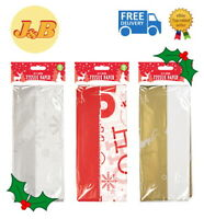 10 Sheets Christmas Tissue Paper Snowflake Ho Ho Ho Reindeer Gift Wrapping 50x70