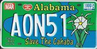 PLAQUE IMMATRICULATION Américaine USA  - ALABAMA save the cahaba