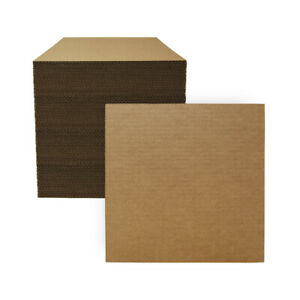 """100 - 12"""" x 12"""" Corrugated Cardboard Pads/Inserts/Sheets 32 ECT - Made in USA"""