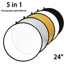 "24"" 5 in 1 Photography Light Reflector Studio Photo Video Collapsible Portable"