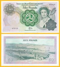 Isle of Man 50 Pounds p-39 1983 UNC Banknote