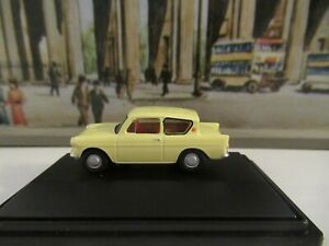 OXFORD RAILWAY SCALE FORD ANGLIA - MUSTARD YELLOW SCALE 1:76