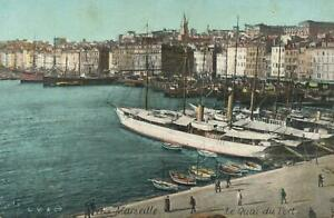 VINTAGE le Quai du Port Marseille View of the Quay at Marseille POSTCARD UNUSED