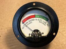 Vintage 1940s Western Sound & Electric Lab Panel Meter Bad / Good Milwaukee WI