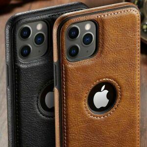 Hülle iPhone 12 11 Pro Max Mini 6 7 8 XS Handyhülle Leder Slim Schutz Tasche