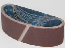 "Ten Sanding Belts 75x533mm (3x21"") 40grit. Industrial cloth backed. ABRB321040"