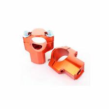 "Universel Orange 42mm 1/8"" 28mm Pontet de Guidon pr KTM 125 200 350 450 EXC MXC"