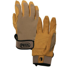NEW! Petzl Cordex Beige Belay Rappel Lightweight Gloves Color Tan Size Small