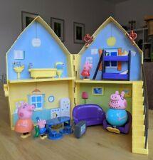 Peppa Pig Juguete plegar Playset W. House Personajes Figuras + Accesorios