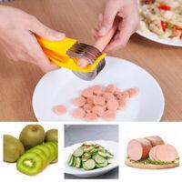Banana Slicer Cooking Split Tool Hand-Held Salad Cucumber Fruit Chopper Handy