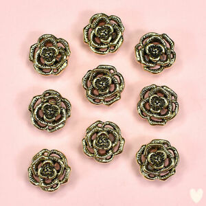 Buttons Galore Victorian Rose 4400 - Gold Vintage Roses Dress It Up