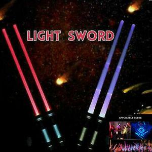 2Pack Lightsaber LED Flashing Light Saber Sword Kids Boy Toy Double Cosplay AU