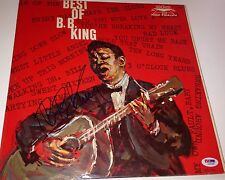 b.b. bb king signed album the best of b.b. king autographed with psa dna coa