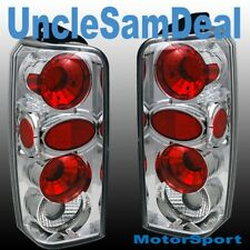 97-01 JEEP CHEROKEE ALTEZZA CHROME CLEAR LENS TAIL LIGHTS PAIR DIRECT FIT