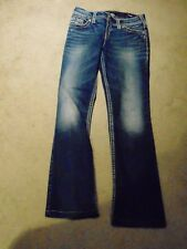 Silver Suki Mid Slim Boot Flap Fluid Denim Women's Distressed jeans 29W L35