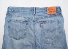 Levi's 501 straight leg regular button fly faded light blue denim jeans W34/L32