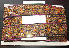 black pink gold Jewel Sequin Indian wedding cake dance costume ribbon rhinestone