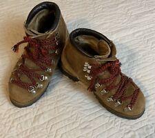 Vintage Dexter Brown Suede Boots Men 6M Heavy Duty Hiking Red Laces Vibram Soles