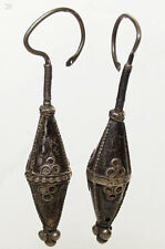 Antico Orient nomadi Orecchini Afghan TRIBAL kuchi tussles EARRING VINTAGE 17/20