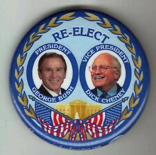 WHITE HOUSE George W. BUSH 2004 pin CHENEY Campaign pinback