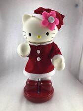 "#PM Dancing Moving Hand  Hello Kitty Musical Doll Plush Christmas Deco Song 13"""