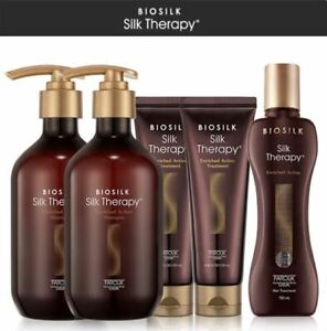 BIOSILK Silk Therapy Enriched Action Shampoo + Treatment + Essence Damaged Hair