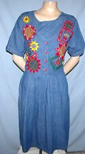 Country Wear Tie-Back Vest Dress Size 12 Career or Casual Side-Seam Pockets