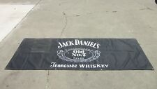 """1995 Jack Daniels Canvas Banner 3' Foot x 7' Foot 94"""" Inches Almost 8 Feet Long"""