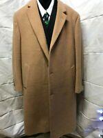 Lauren Ralph Lauren Men's Tan 3 button  Wool Blend Overcoat 46R