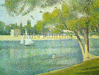 SEURAT 10 ARTIST PAINTING REPRODUCTION HANDMADE OIL CANVAS REPRO WALL ART DECO