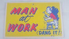Man at Work (Dang It!) - Vintage Motto Mailer postcard