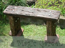 Wooden Railway sleeper seat chair cement concrete garden ornament moulds molds
