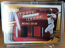 Michael Taylor 2021 Absolute Tools of the Trade Dual Relics 2/10 Nationals