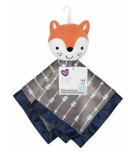 Parents Choice Fox Security Blanket White Arrows Blue Satin Walmart Lovey NWT