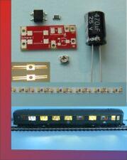 5x Waggonbeleuchtung Wagenbeleuchtung N 150mm komp.incl.Radschl digital KW 4.0