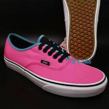 Vans Authentic Brite Neon Pink/Black Skate Shoes Mens 9 Womens 10.5