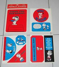 8 Adesivi PEANUTS STICKERS Hallmark Cards autocollant Snoopy Linus Charlie Brown