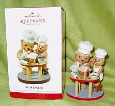 Hallmark 2013 Keepsake Ornament Collector's Club Exclusive Busy Bakers Bears NIB