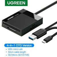 Ugreen Multi USB 3.0 OTG Card Reader for TF,SD,CF,MS Memory Cards Simultaneous