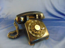 Vtg black tele phone Western Electric model G3 desk home office ringer works art