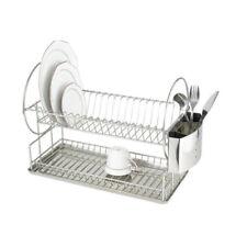 Zweietagiger Metall Abtropfregal Abtropfkorb Küche Gestell Geschirrtrockner