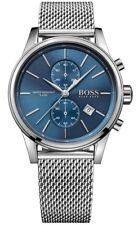 BRAND NEW HUGO BOSS BLUE JET MESH STAINLESS STEEL CHRONO MEN WATCH HB1513441