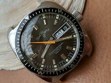 Vintage Paul Peugeot Surf n' Ski Superautomatic Day-Date Diver Watch w/Mint Dial