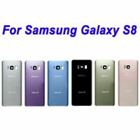 Samsung Galaxy S8 G950 Battery Back Door Rear Cover Glass + Camera Cover Lens
