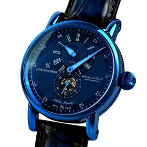 Chronoswiss Regulator 41MM Blue Men's Swiss Automatic - $9.575 NR- 2 Y/W 2021