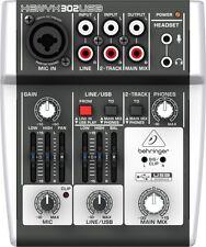 Behringer 302USB 5 Input USB Mixer - NEW!