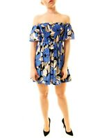 Free People Damen Louise Printed Smoked Kleid Blau XS UVP 79 BCF612