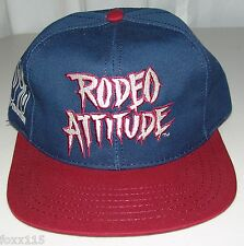 Vintage Rodeo Attitude 100% Guts Glory Tradition Snapback Hat Cap Never Worn USA
