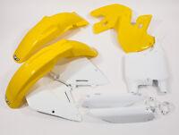 UFO Motocross 6 Piece Plastic Kit Suzuki RM 125 250 99 - 2000 OEM SUKIT400E-999