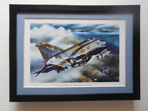 Mark Waki Aircraft print 'McDonnell Douglas F-4G Wild Weasel Phantom' FRAMED